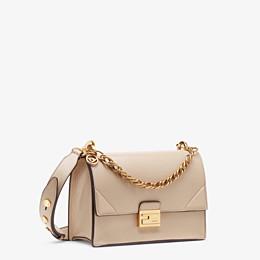 FENDI KAN U - Beige leather bag - view 3 thumbnail