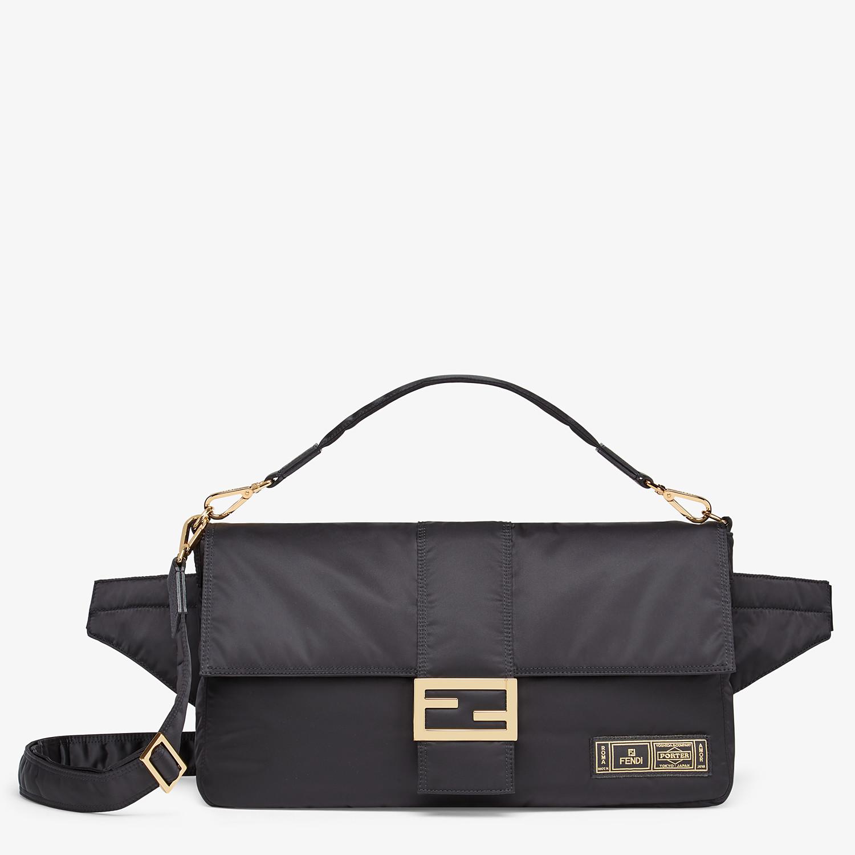 FENDI BAGUETTE FENDI AND PORTER - Black nylon bag - view 1 detail