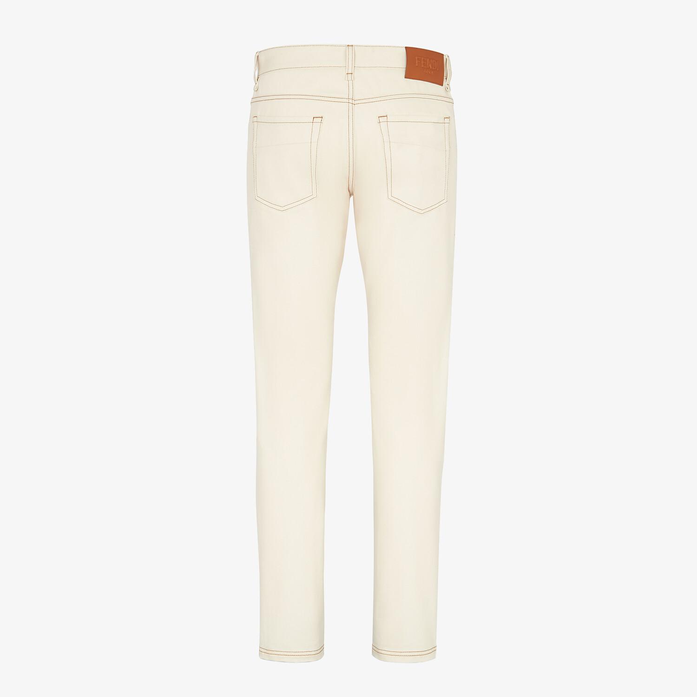 FENDI DENIM - Yellow denim jeans - view 2 detail