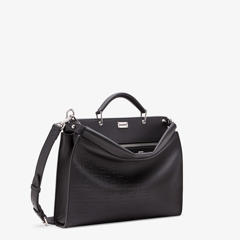 FENDI PEEKABOO ICONIC FIT - Black, calf leather bag - view 2 detail