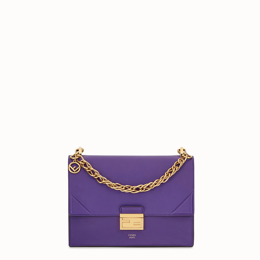 FENDI KAN U - Purple leather bag - view 1 detail