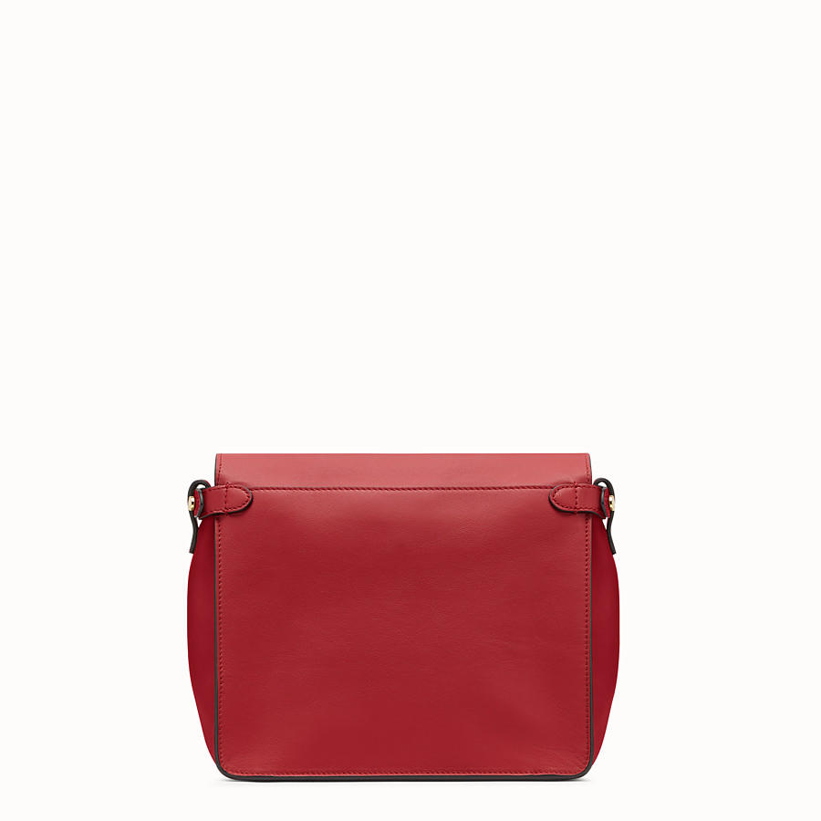 FENDI FENDI FLIP REGULAR - Tasche aus Leder in Rot - view 4 detail