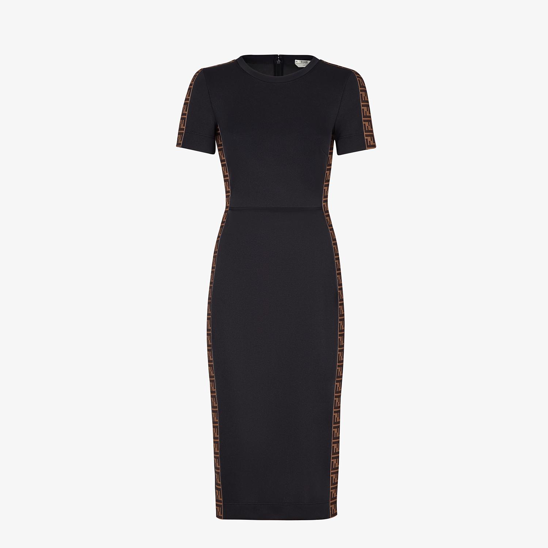 FENDI DRESS - Black piqué dress - view 1 detail