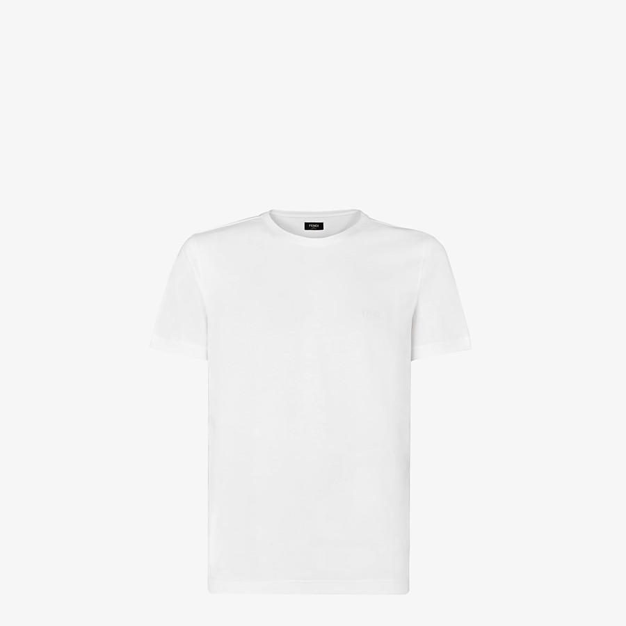 FENDI T-SHIRT - White jersey T-shirt - view 1 detail