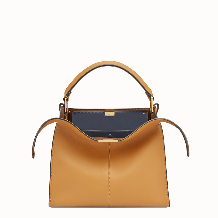 FENDI PEEKABOO X-LITE REGULAR - Brown leather bag - view 1 detail