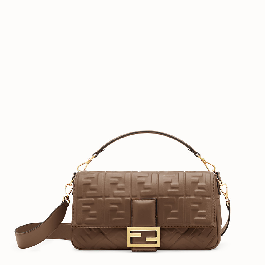 FENDI BAGUETTE LARGE - Green nappa leather bag - view 1 detail
