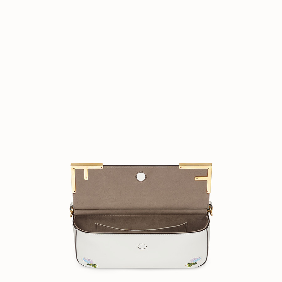FENDI DOUBLE F - White leather bag - view 4 detail