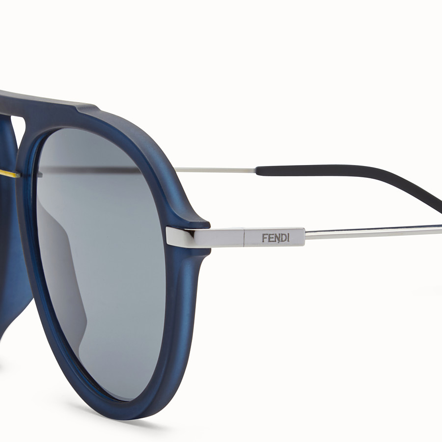 FENDI FENDI FANTASTIC - Blue satin-finish sunglasses - view 3 detail
