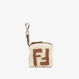 FENDI TOAST BAG CHARM - Multicolour sheepskin charm - view 1 thumbnail