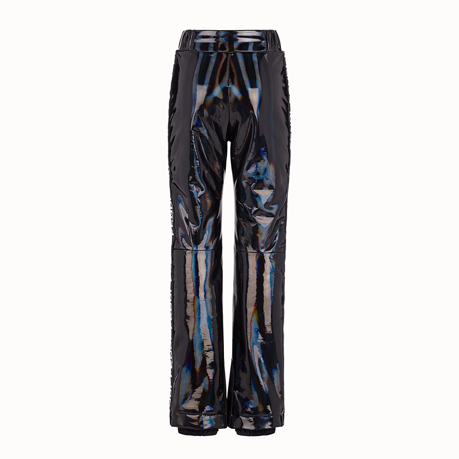 FENDI TROUSERS - Black nylon trousers - view 2 detail