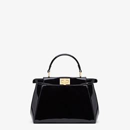 FENDI PEEKABOO ICONIC MINI - Black patent leather bag - view 4 thumbnail