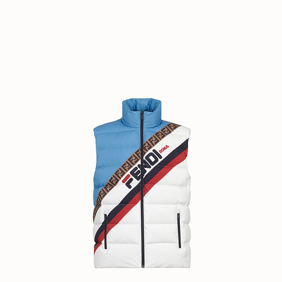 FENDI GILET - Multicolour tech fabric gilet - view 1 detail