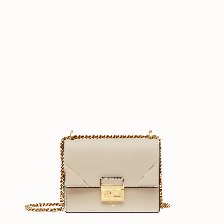 FENDI KAN U SMALL - Grey leather mini-bag - view 1 detail