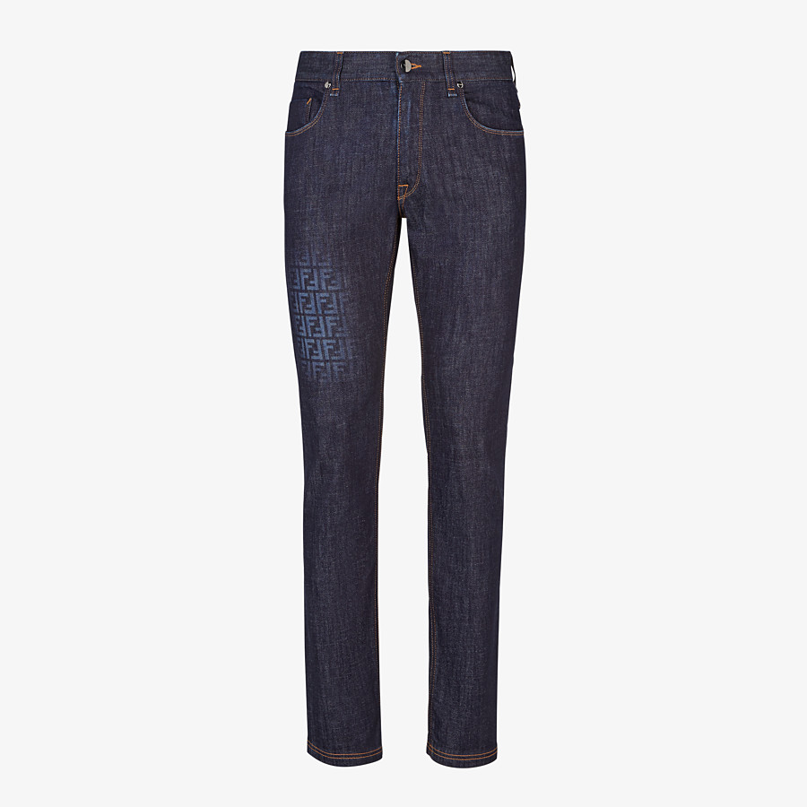FENDI JEANS - Jeans aus Denim in Dunkelblau - view 1 detail