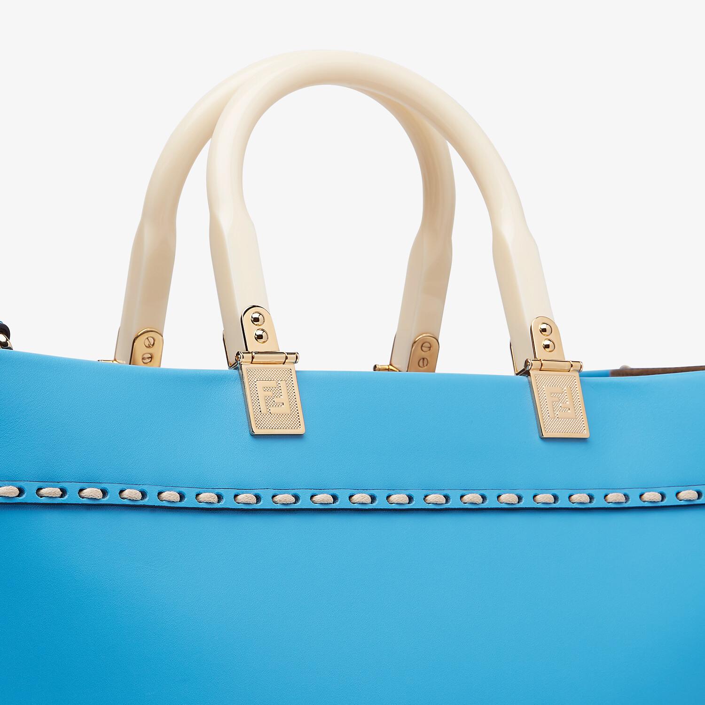 FENDI FENDI SUNSHINE MEDIUM - Blue leather shopper - view 6 detail