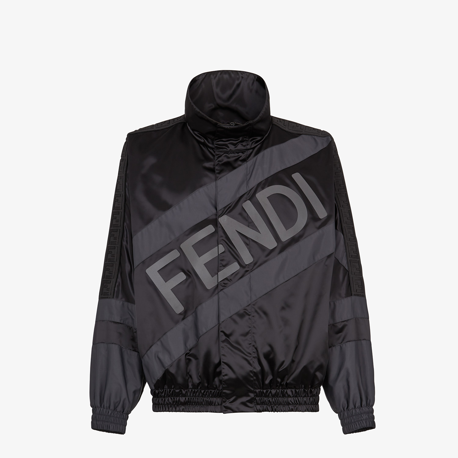 FENDI JACKET - Black tech satin jacket - view 1 detail