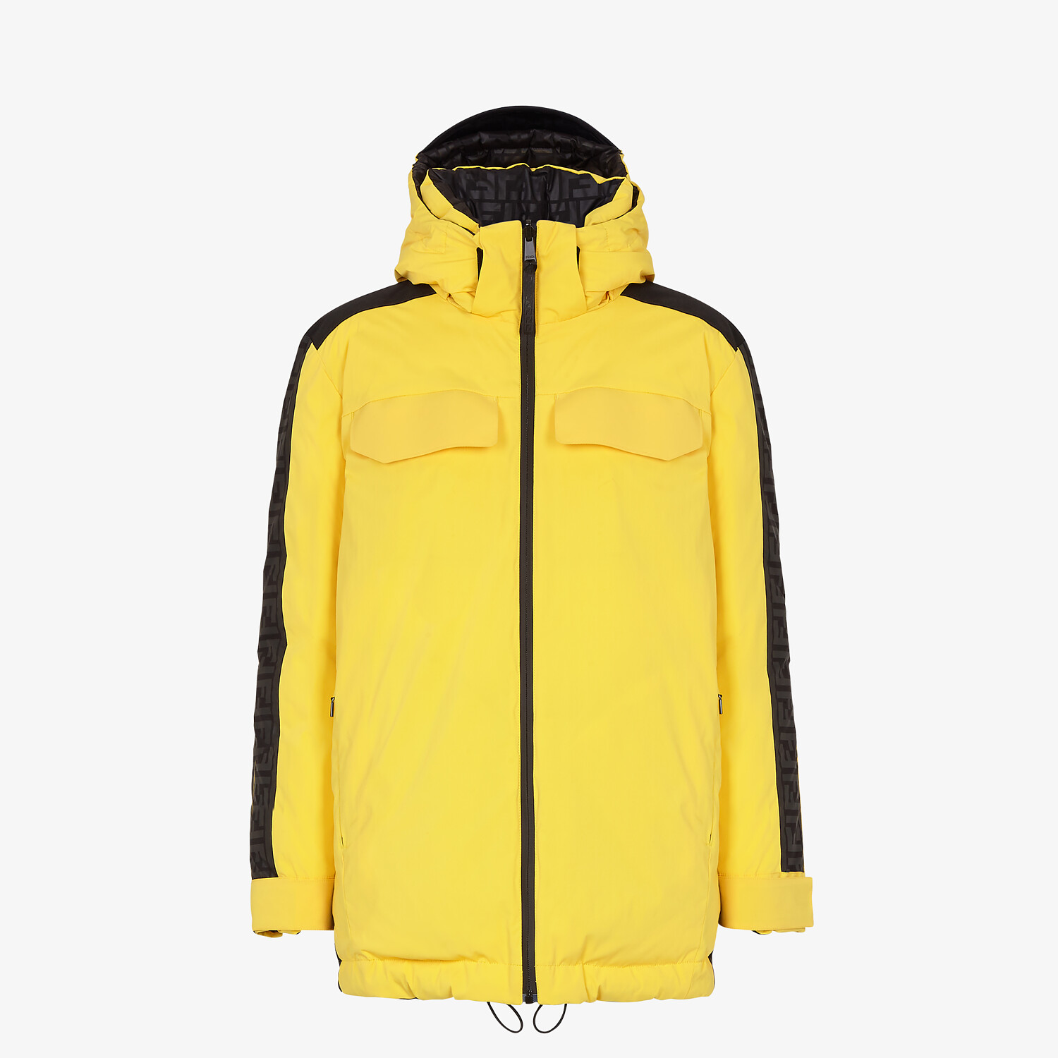 FENDI SKI JACKET - Ski jacket in yellow tech nylon - view 1 detail