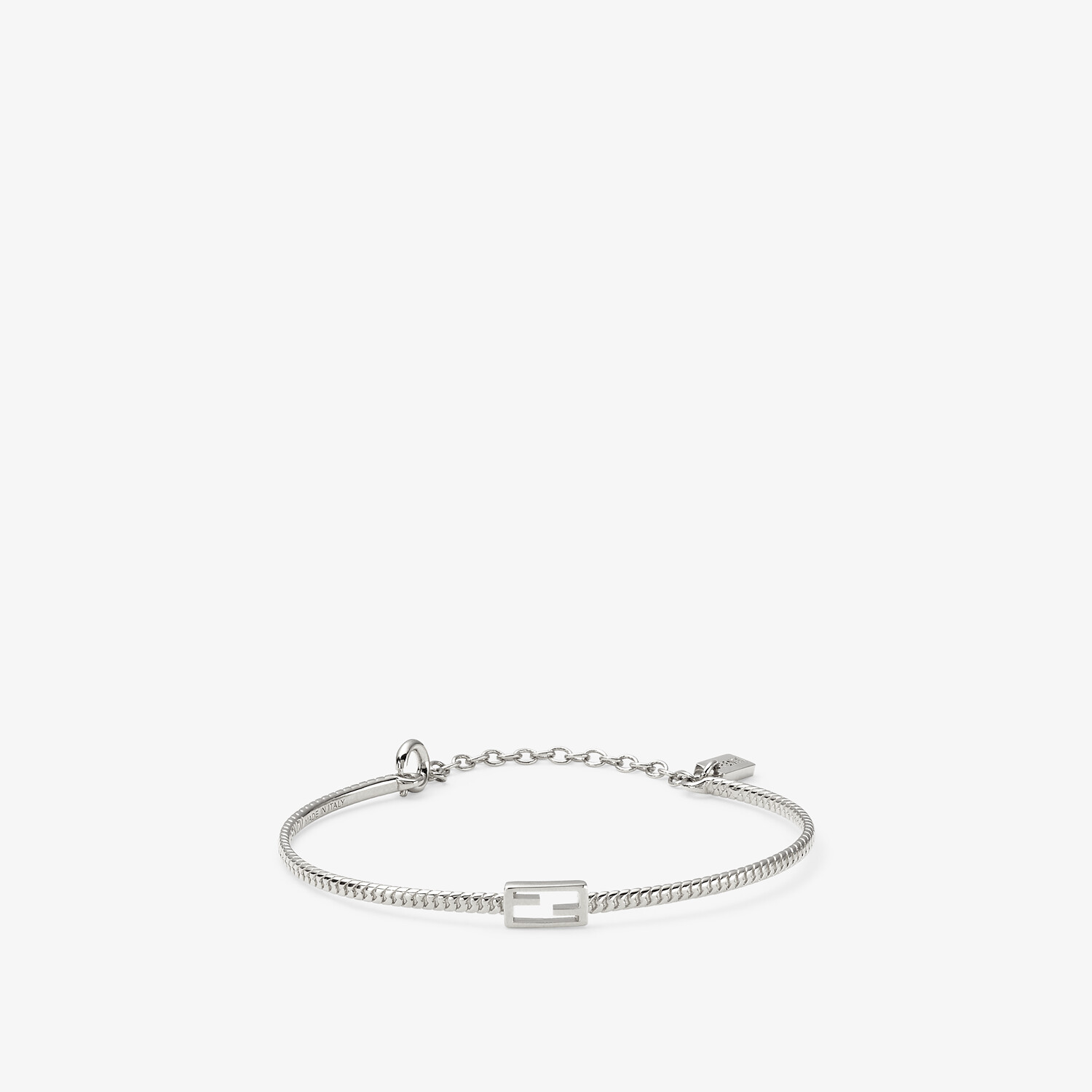 FENDI BAGUETTE BRACELET - Silver-colored bracelet - view 1 detail