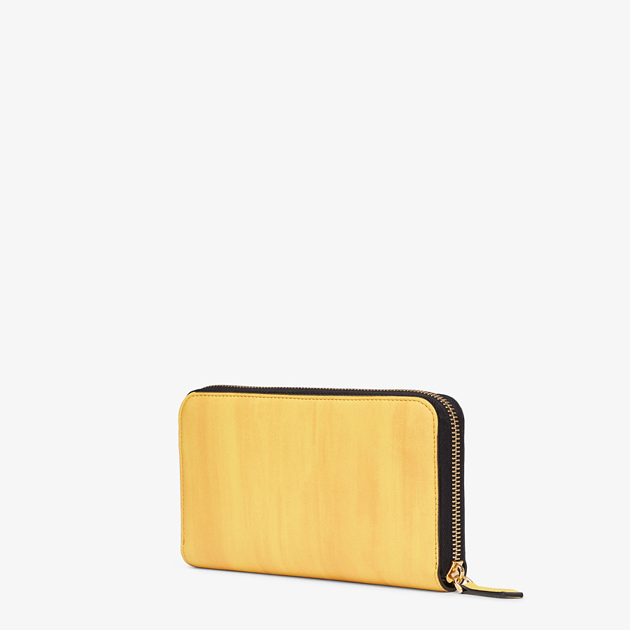 FENDI ZIP-AROUND - Yellow leather wallet - view 2 detail