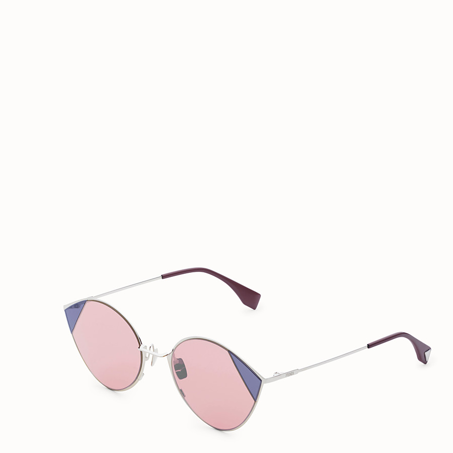 FENDI CUT-EYE - Silver-coloured sunglasses - view 2 detail