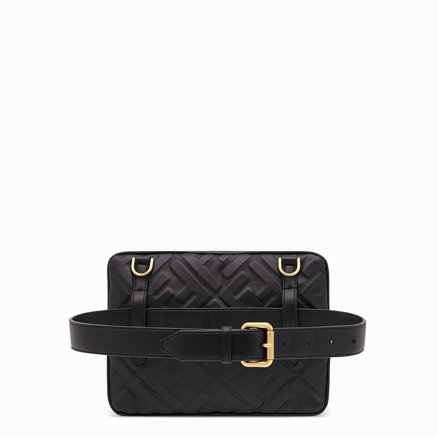 FENDI UPSIDE DOWN - Black leather bag - view 3 detail