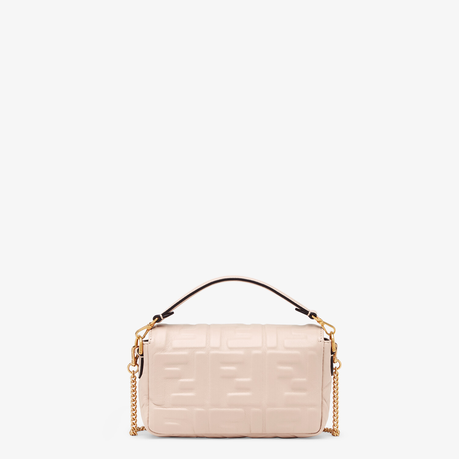 FENDI BAGUETTE - Pink nappa leather FF bag - view 3 detail