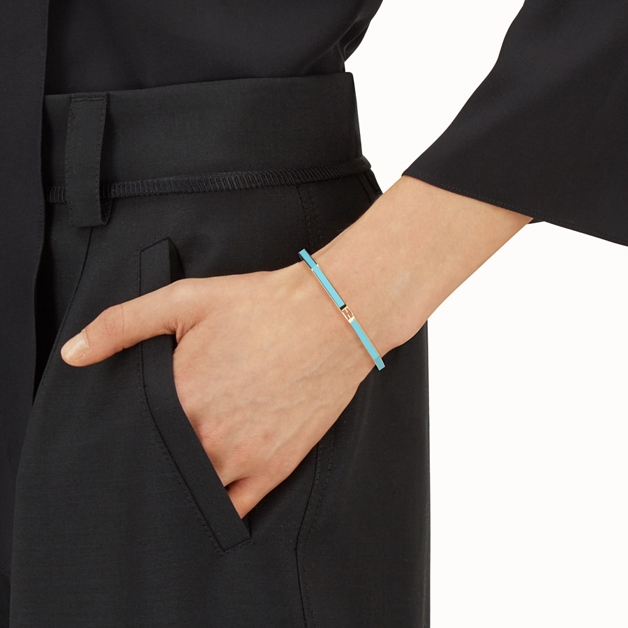 FENDI BAGUETTE BRACELET - Polished turquoise Baguette bangle - view 2 detail