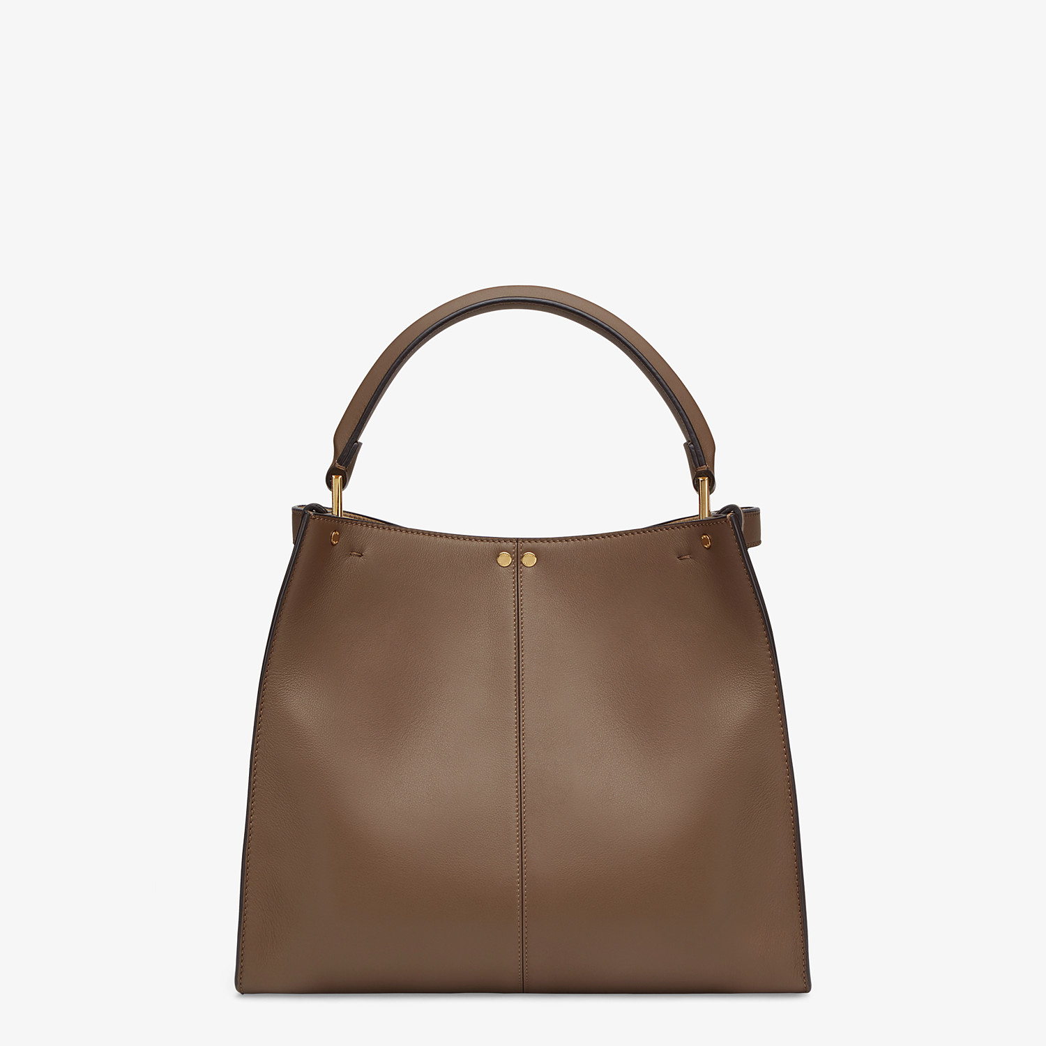 FENDI PEEKABOO X-LITE MEDIUM - Brown leather bag - view 4 detail