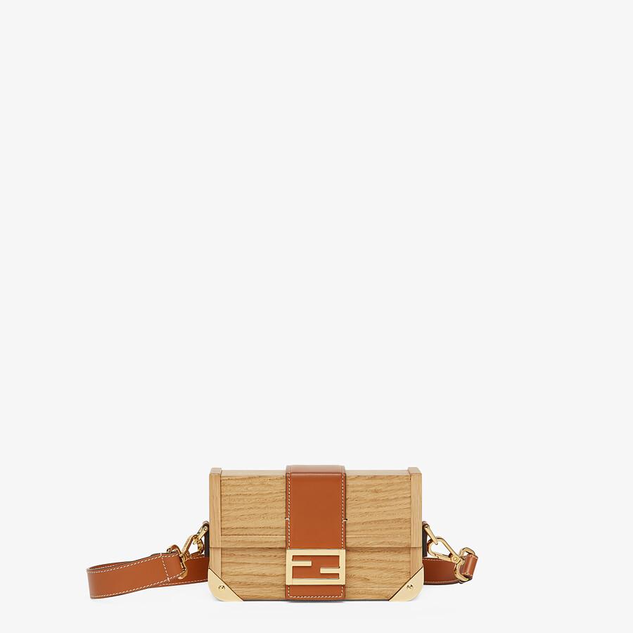 FENDI BAGUETTE TRUNK MINI - Natural wood bag - view 1 detail