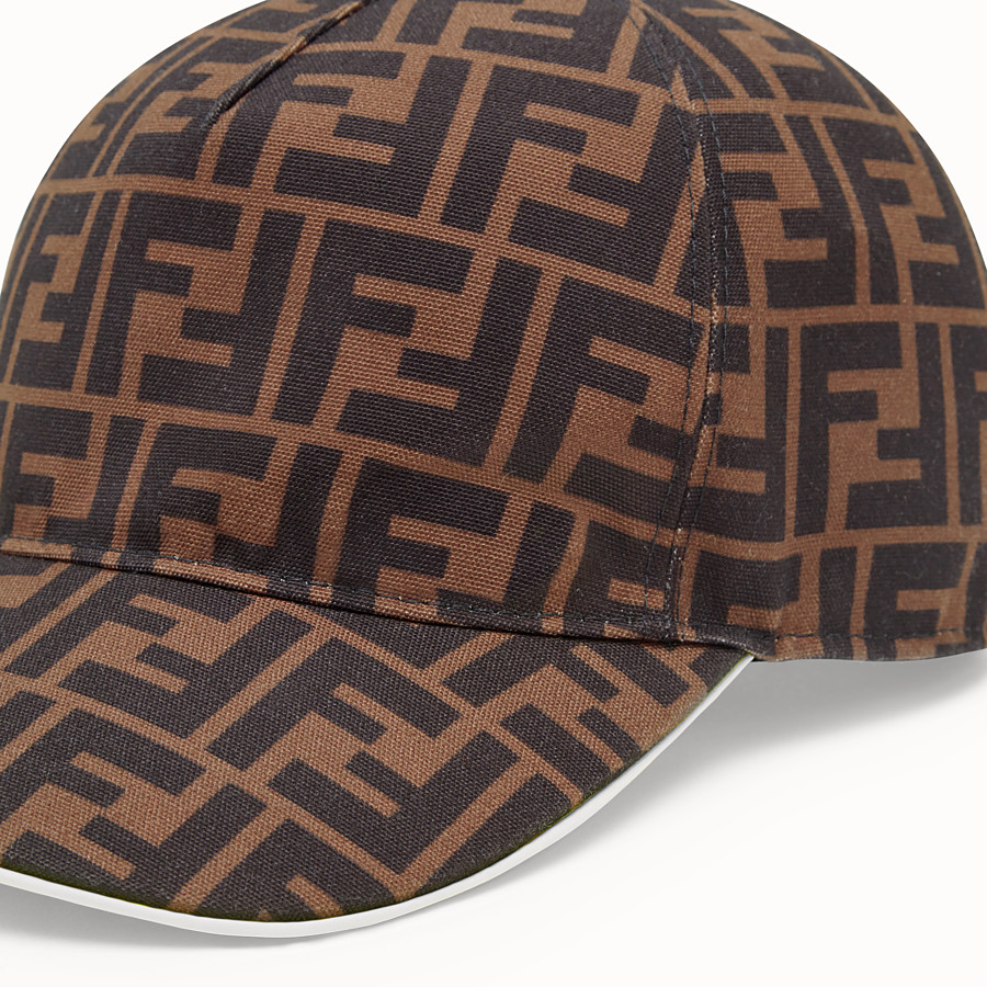 FENDI HAT - Multicolour canvas baseball cap - view 2 detail