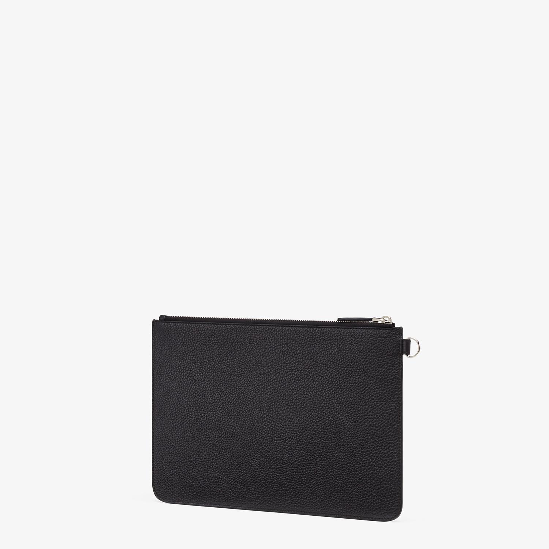 FENDI POUCH - Black leather slim pouch - view 2 detail