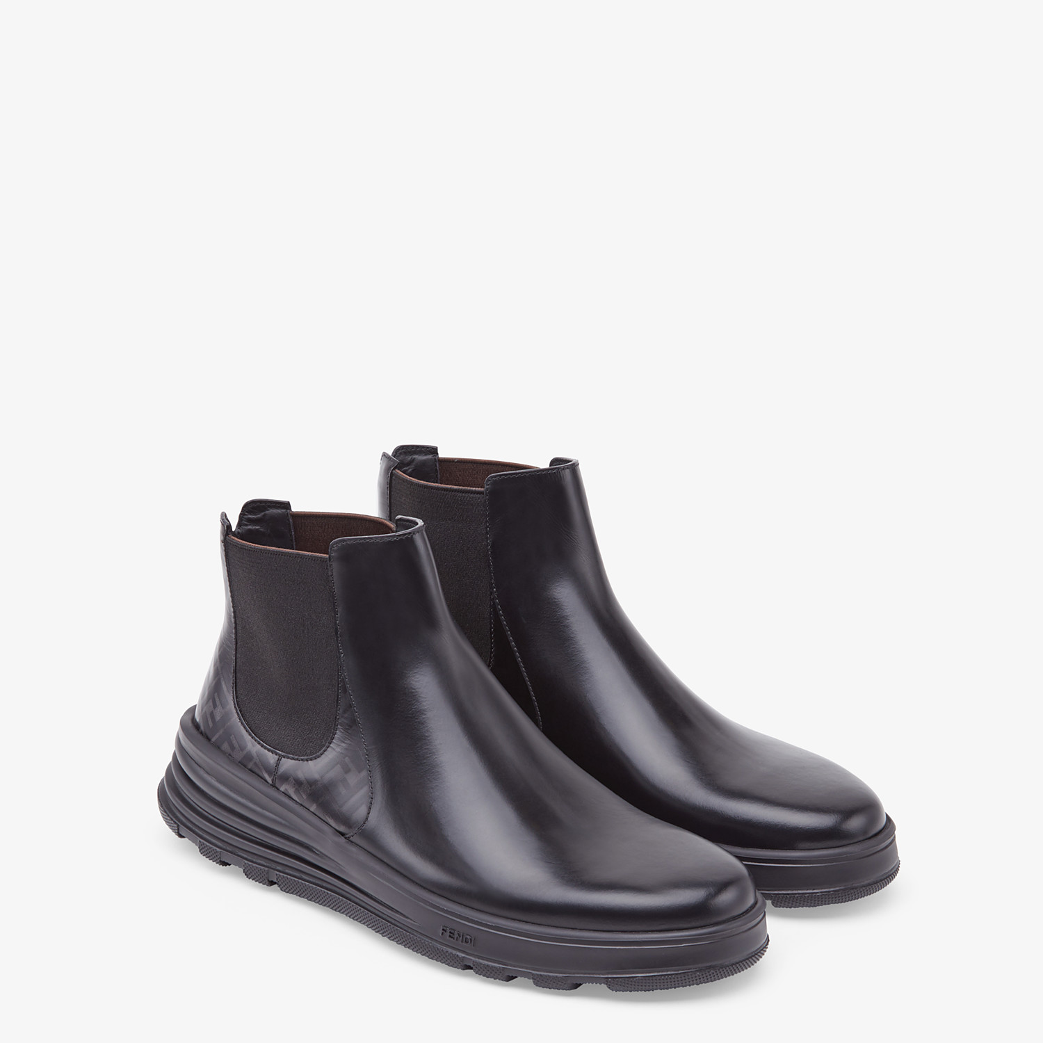 FENDI CHELSEA - Bottines en cuir noir - view 4 detail