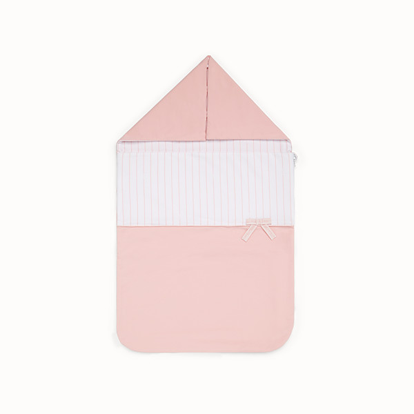 FENDI BABY GIRL'S SLEEPING BAG - Pink and white sleeping bag - view 1 small thumbnail