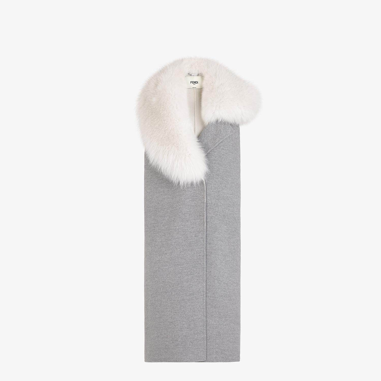 FENDI VEST - Gray cashmere vest - view 1 detail