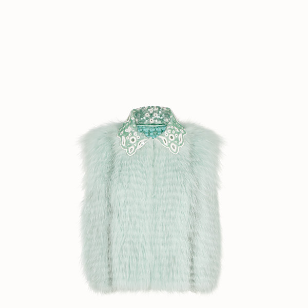 FENDI GILET - Green fur gilet - view 1 small thumbnail