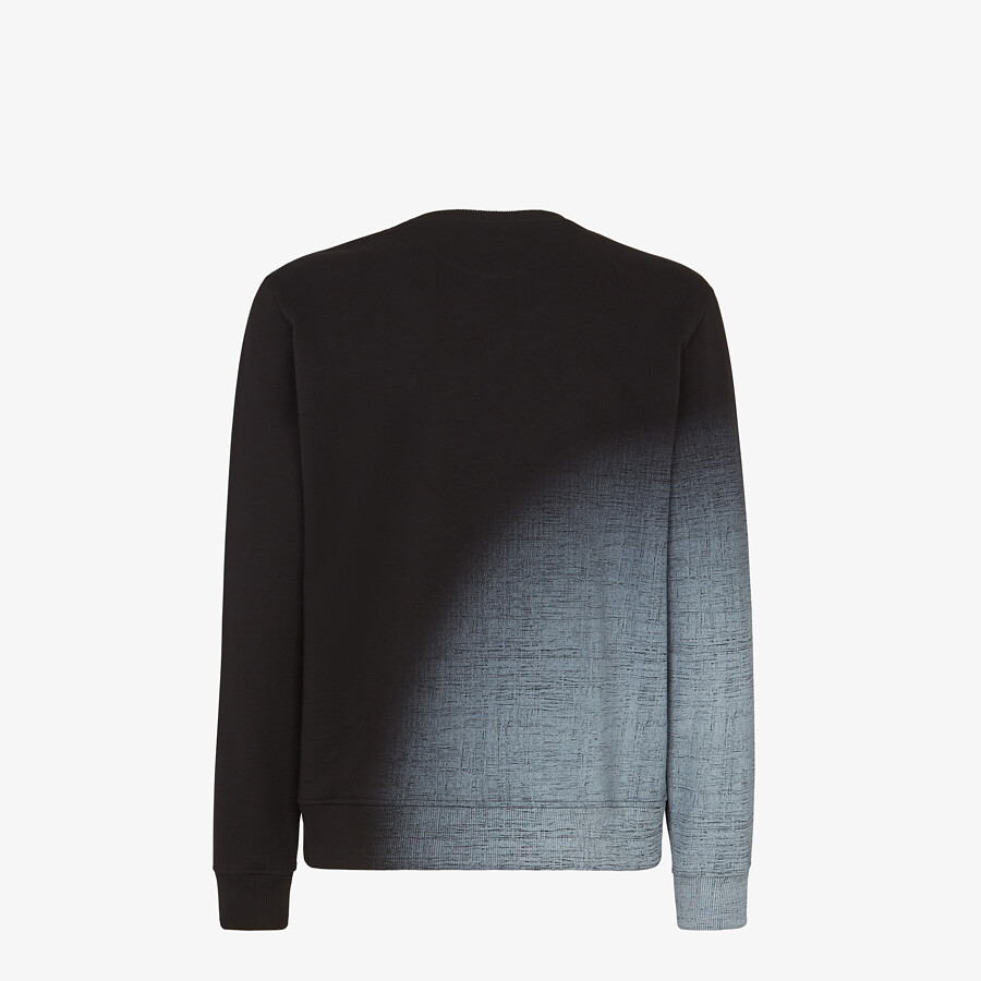 FENDI SWEATSHIRT - Black cotton sweatshirt - view 2 detail