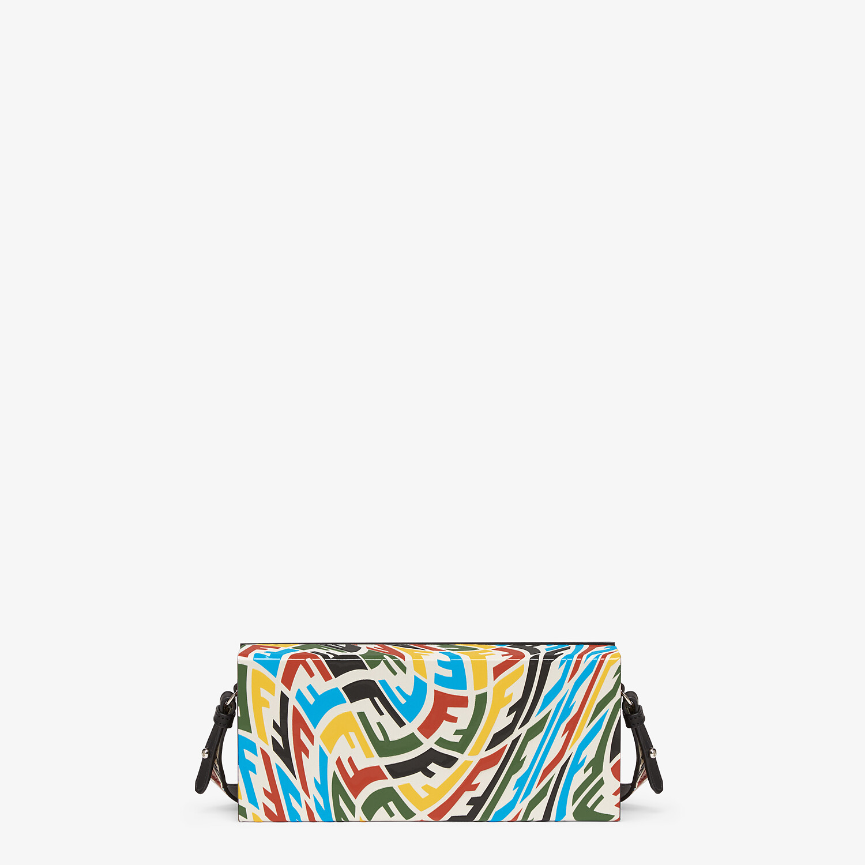 FENDI HORIZONTAL BOX - Multicolour FF Vertigo leather bag - view 1 detail
