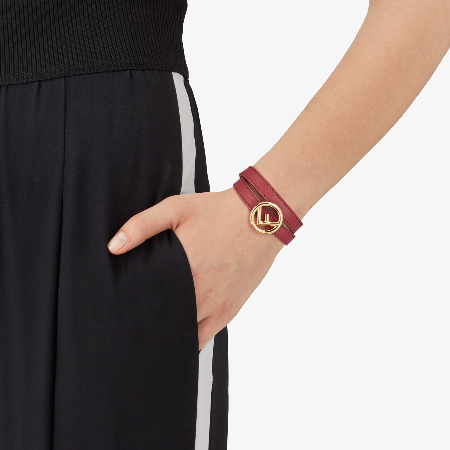 FENDI F IS FENDI BRACELET - Dark red bracelet - view 2 detail