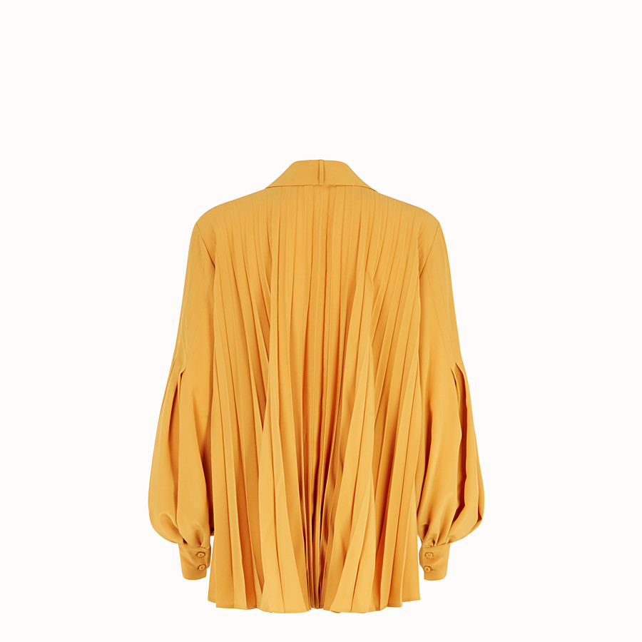 FENDI BLOUSE - Yellow silk blouse - view 2 detail