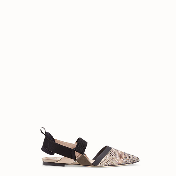FENDI SLINGBACK - Colibrì in beige mesh - view 1 small thumbnail