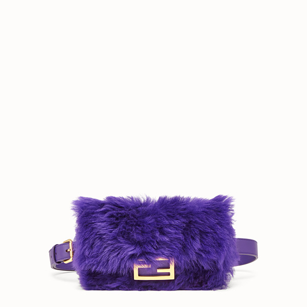 FENDI BELT BAG - Mini bag in purple sheepskin - view 1 small thumbnail
