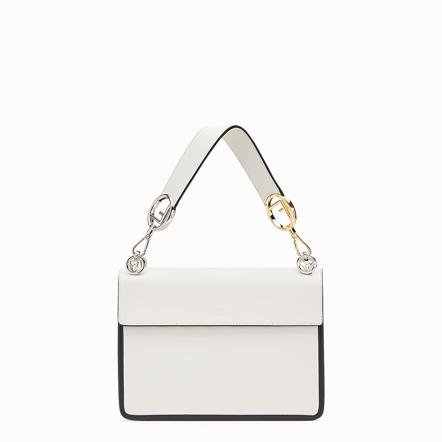FENDI KAN I F - White leather bag - view 3 detail