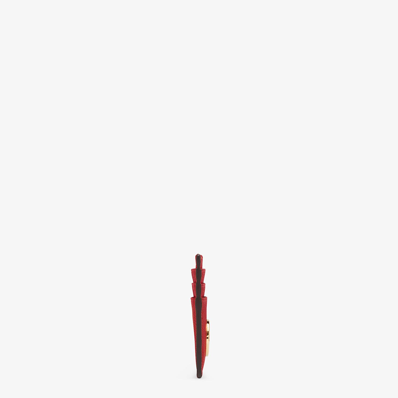 FENDI PORTACARTE - Portacarte piatto in pelle rossa - vista 3 dettaglio