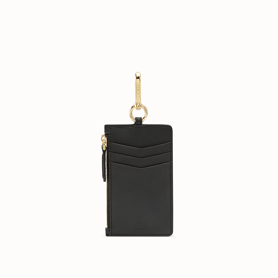 FENDI COIN PURSE CHARM - Black leather coin purse - view 2 detail
