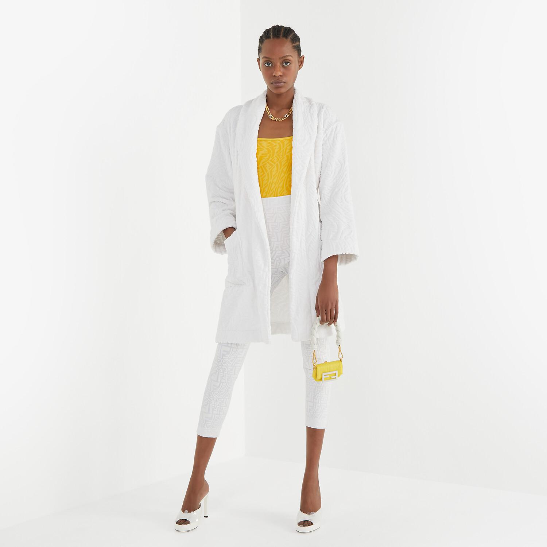 FENDI BATHROBE - White cotton bathrobe - view 4 detail