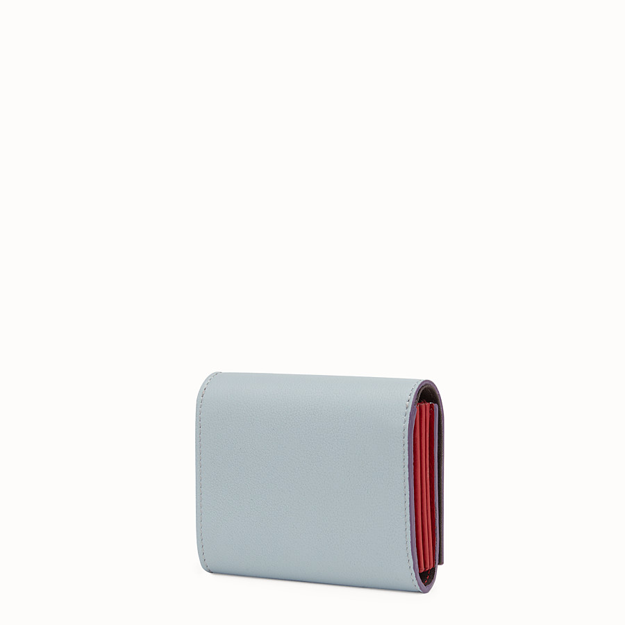 FENDI PEEKABOO CARD HOLDER - in grey and red leather - view 2 detail