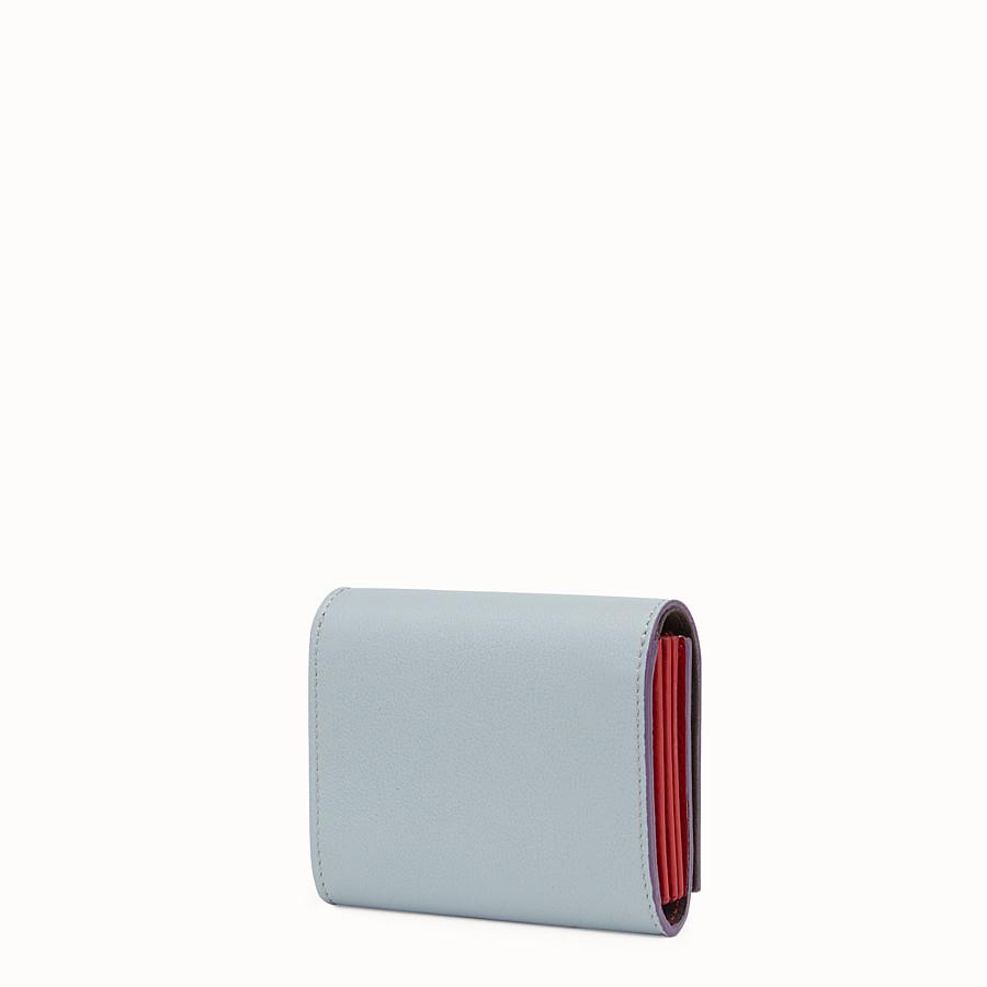FENDI 피카부 지갑 - 그레이 및 레드 컬러의 가죽 소재 - view 2 detail
