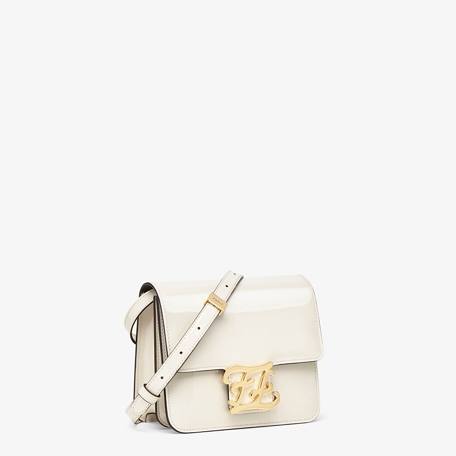 FENDI KARLIGRAPHY - White patent leather bag - view 2 detail