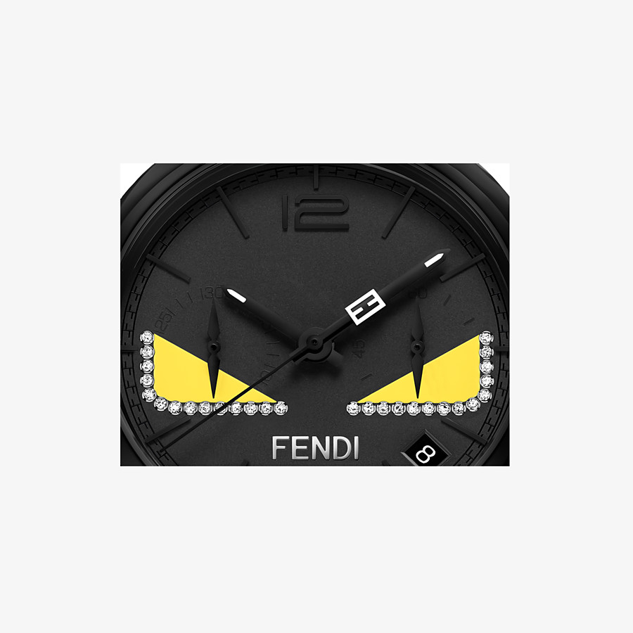 FENDI MOMENTO FENDI BUGS - Chronograph watch with diamonds and strap - view 3 detail