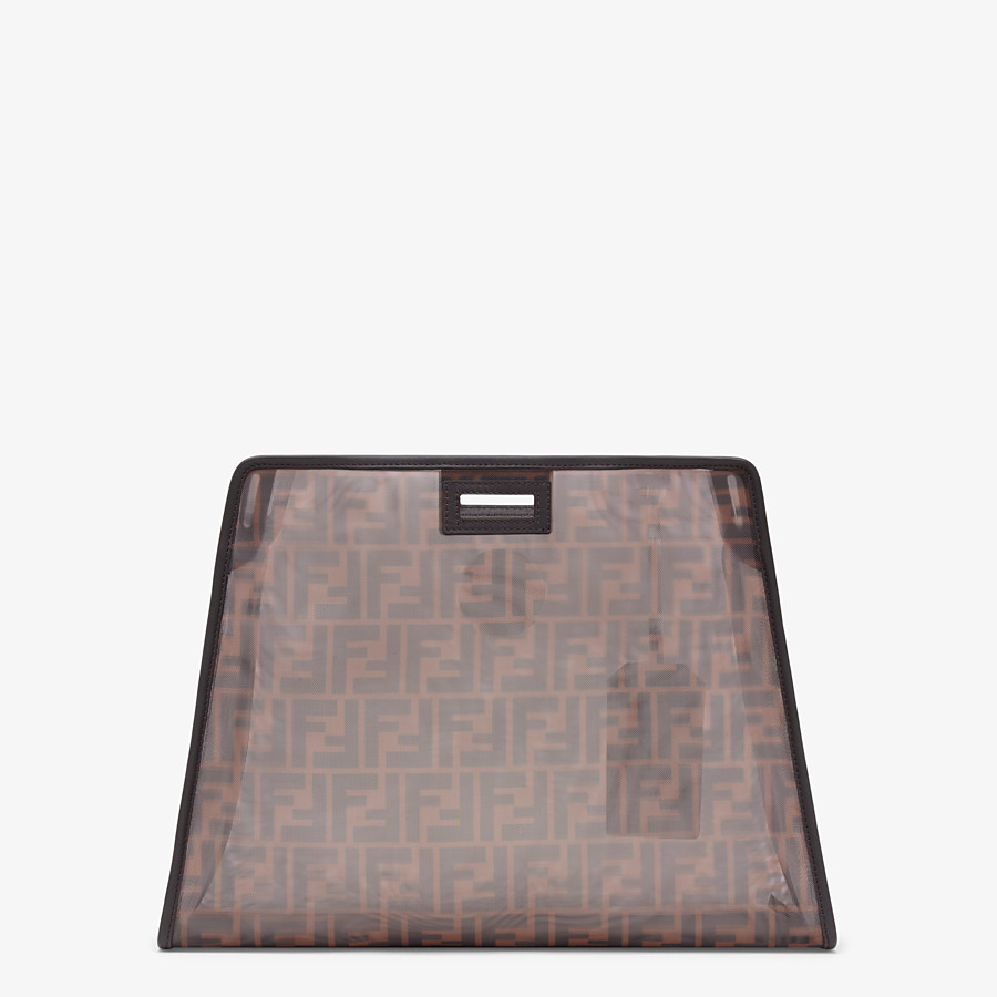 FENDI PEEKABOO DEFENDER MOYEN - Coque pour Peekaboo en filet marron - view 3 detail